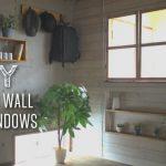 賃貸OK!室内窓付きの間仕切り壁を簡単にDIY(室内窓編)